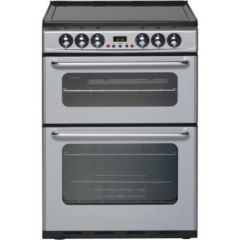New World 444440040/MG New World Newhome Ec600dom Silver Ceramic Electric Cooker With Double Oven